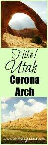 HIke to the amazing Corona Arch near Arches National Park. This hike is great for families!