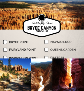 Can't Miss Checklist || Bryce Canyon National Park || Dirt In My Shoes