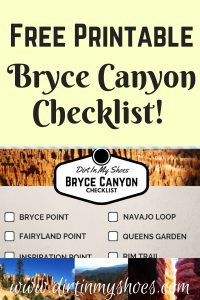 Bryce Canyon National Park Checklist || Dirt In My Shoes