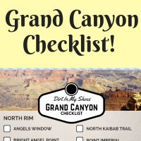 Grand Canyon National Park Checklist || Dirt In My Shoes