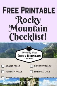 Rocky Mountain National Park Checklist || Dirt In My Shoes