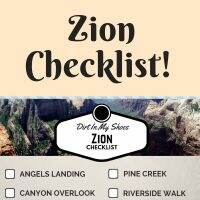 Zion National Park Checklist || Dirt In My Shoes