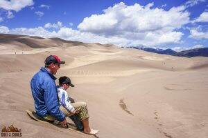 Sand Sledding || Great Sand Dunes National Park || Dirt In My Shoes
